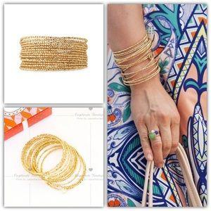 Stella & Dot Bardot Spiral Bangle Bracelet Gold